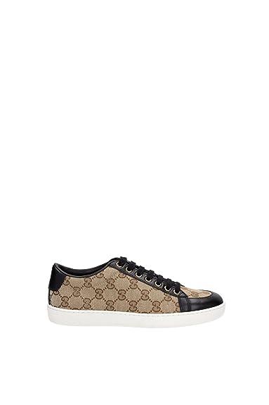 338883 ftaz09767 Gucci sneakers femme en tissu beige - Beige - beige ... 21a071c7488