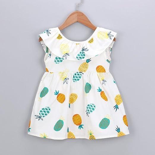 Xshuai Fashion - Vestido de princesa sin mangas para recién nacido, diseño de frutas, amarillo, 0-6 meses: Amazon.es: Hogar