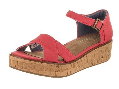 02e8d9a9ce8 TOMS Women s Harper Wedge Sandal  Amazon.co.uk  Shoes   Bags