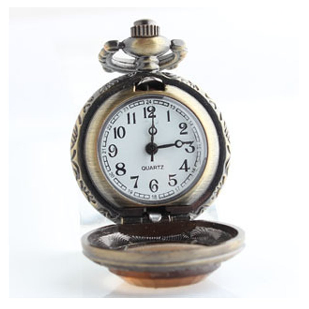 Amazon.com: Dig dog bone Pocket Watch Small Brown Glass Face Flip Vintage Quartz Watch Pocket Watch Necklace Watch: Sports & Outdoors