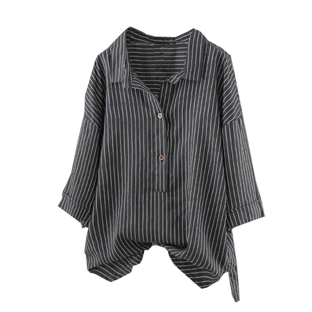 Blouses & Shirts Women Blouses Patchwork Casual Loose Linen Patchwork Half Sleeve Soild Girl Button Splice Pocket Dress Grade Products According To Quality