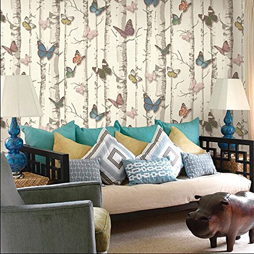300cmX250cm 3D modern wallpaper PVC cartoon butterfly grove wallpaper wallpaper children room by ZLJTYN