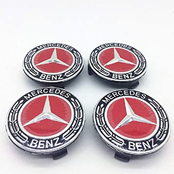 Tapacubos para Mercedes Benz de 7,62 cm, 4 Unidades, Color Negro +