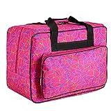 Homdox Sewing Machine Carrying Case Tote Bag - Universal Waterproof Rose Red