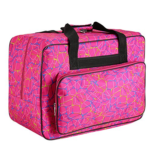 Best Deals! Homdox Sewing Machine Carrying Case Tote Bag - Universal Waterproof Rose Red