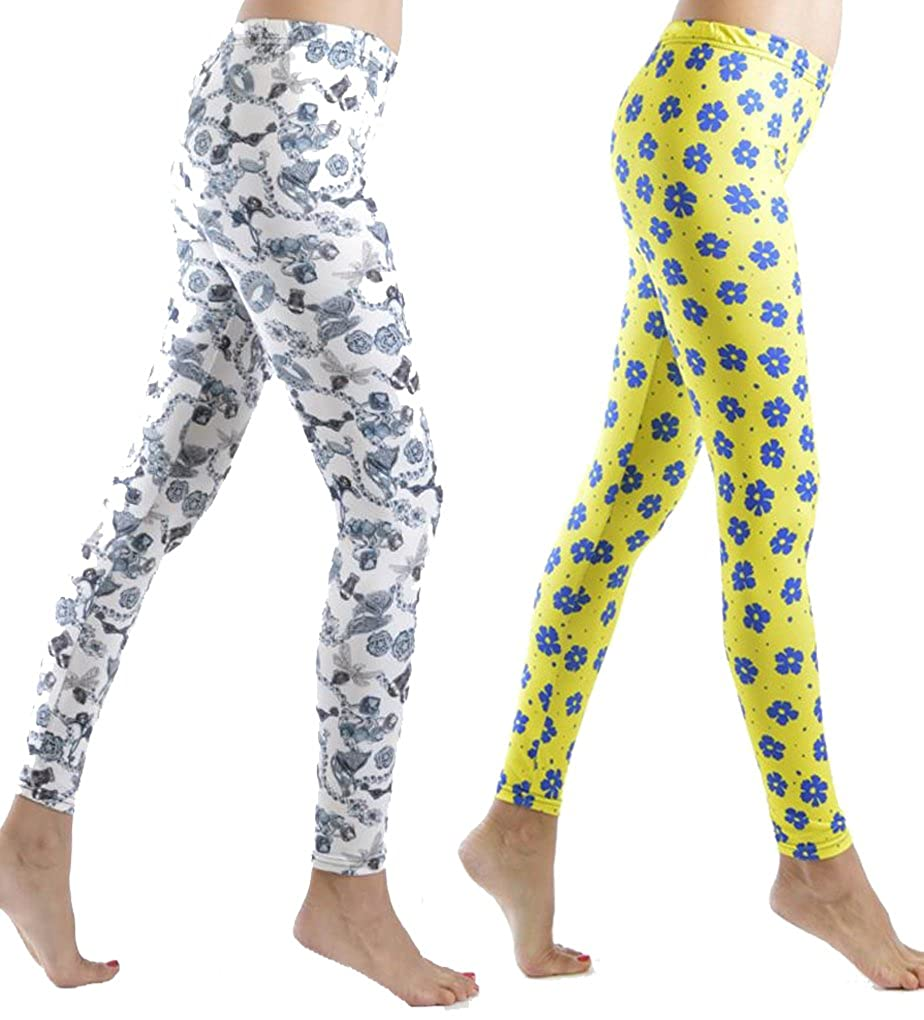 Dinamit Women's Printed Form Fitting Leggings Leg2-pp