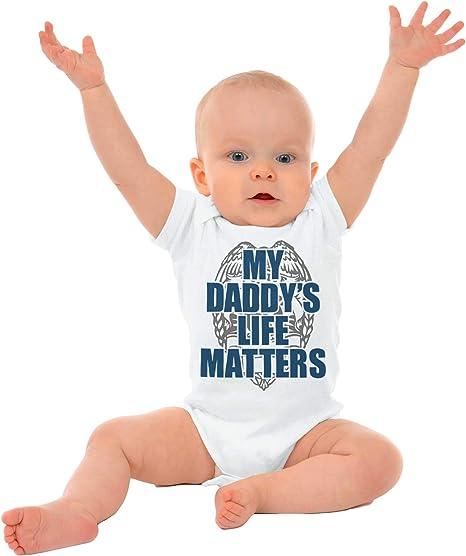 My Daddys Life Matters Gerber OnesiePolice Officer Blue Lives Baby Romper