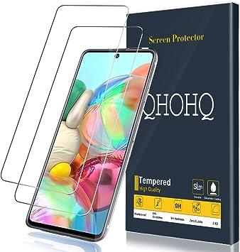 QHOHQ Protector de Pantalla para Samsung Galaxy A71, Samsung ...