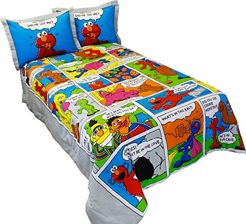 Sesame Street Comic Comforter in Full Size w/ 2 Shams ~ E...