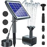 Biling Solar Bird Bath Fountain with Panel, 2020 Upgrade Solar Fountain Water Pump Kit, Solar Powered Fountain Pump…