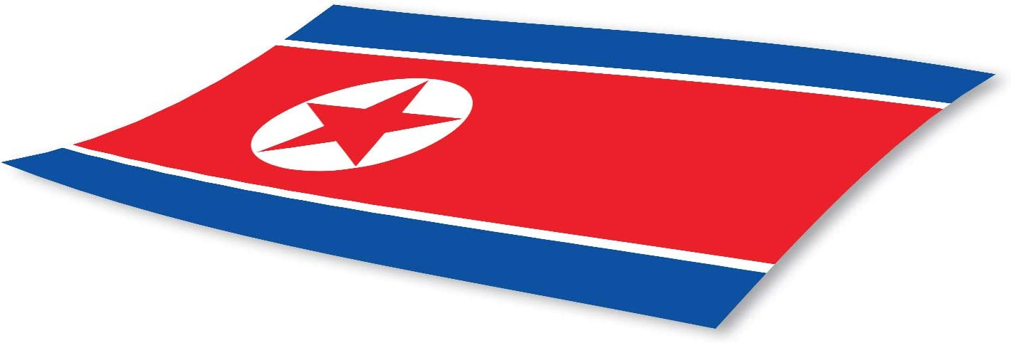 3x5 North Korea Flag Bumper Sticker 3-Pack Made with Durable Waterproof Materials North Korean Flag Bumper Sticker Flag of North Korea Bumper Sticker