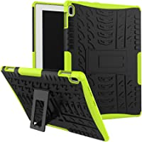 "SCIMIN Lenovo Tab 410Funda, Lenovo Tab 410Funda híbrida, Doble Capa a Prueba de Golpes híbrido Rugged Case Carcasa rígida con función Atril para Lenovo Tab 4de 10.1"" 10(tb-x304°F), Verde"