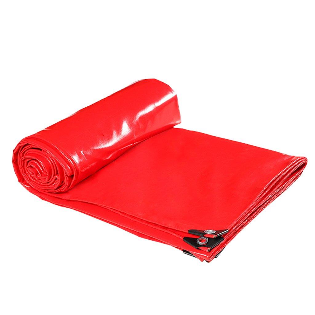 Zelt Zubehör Plane Rote Planen-Blatt-Plane-Multifunktionsponcho für kampierendes Fischen-im Garten arbeitender Sonnenschutz-Kälte-Widerstand, Stärke 0.45MM, 470G   m², 15 vorhandene Größe Idee für Cam