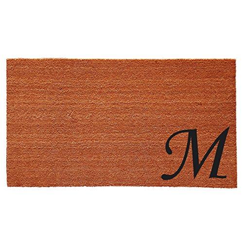 Mongram Letter - Home & More 153622436M Urban Chic Monogram Doormat  (Letter M), Black/Natural, 24