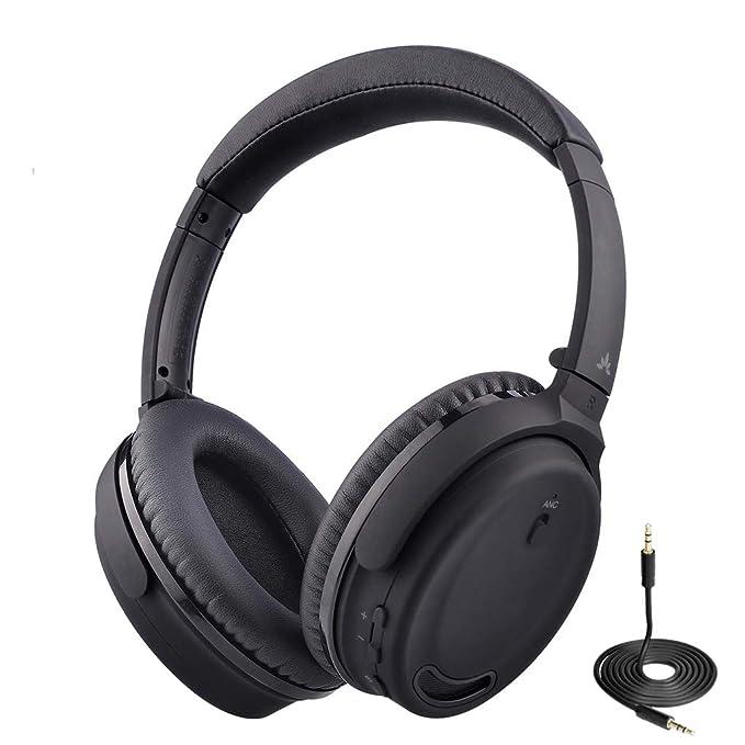 150480f95a677f Avantree ANC032 Bluetooth 4.1 Cuffie con Cancellazione del Rumori e  Microfono, senza fili o con