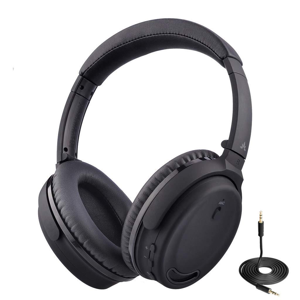 Auriculares Avantree Anc032 Cancelacion De Ruido Activa Bluetooth Con Mic Inalambrico Con Cable 2-in-1 Confortable & Ple