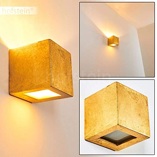 Up Down Wand Leuchten goldfarbene Wohn Schlaf Zimmer Flur Dielen Lampen Keramik