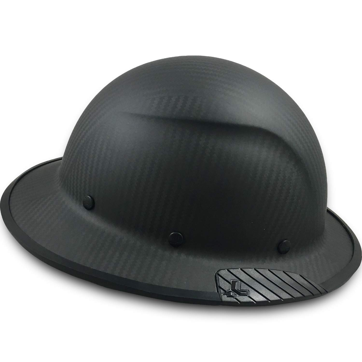 Texas America Safety Company Actual Carbon Fiber Material Hard Hat with Hard Hat Tote- Full Brim, Matte Black with Protective Edging by Texas America Safety Company (Image #3)