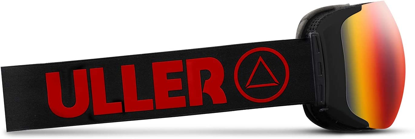 Adultos Unisex Uller Helix Mascaras de Esqui Negro//Rojo Talla /Única