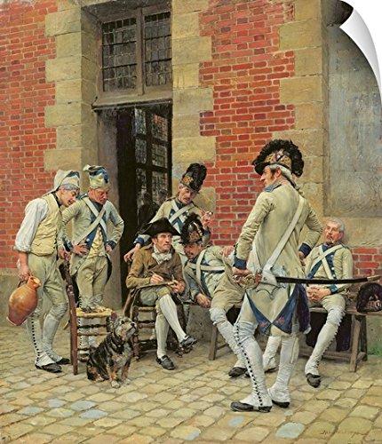 Canvas on Demand Jean-Louis Ernest Meissonier Wall Peel Wall Art Print entitled The Sergeant's Portrait, 1874 (Meissonier Jean)