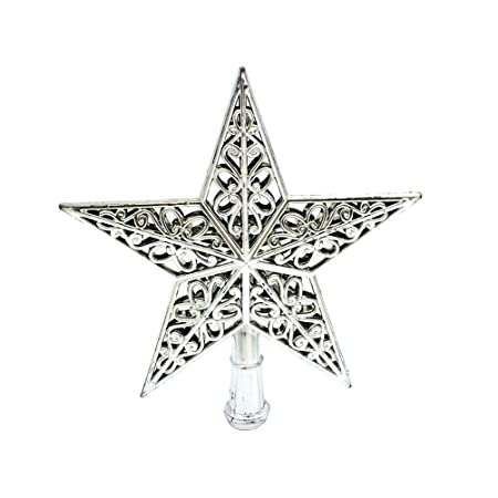 tinksky hollowed out christmas tree top sparkle star glittering hanging xmas tree topper decoration ornaments