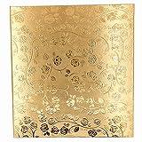 "Luxuriiao Large Capacity Premium Photo Album, 620 Pockets Family Photo Album, Holds 3""×5"",4""×6"",5""×7"" Photographs, Deluxe Wedding Photo Album with Rose Cover(Gold)"