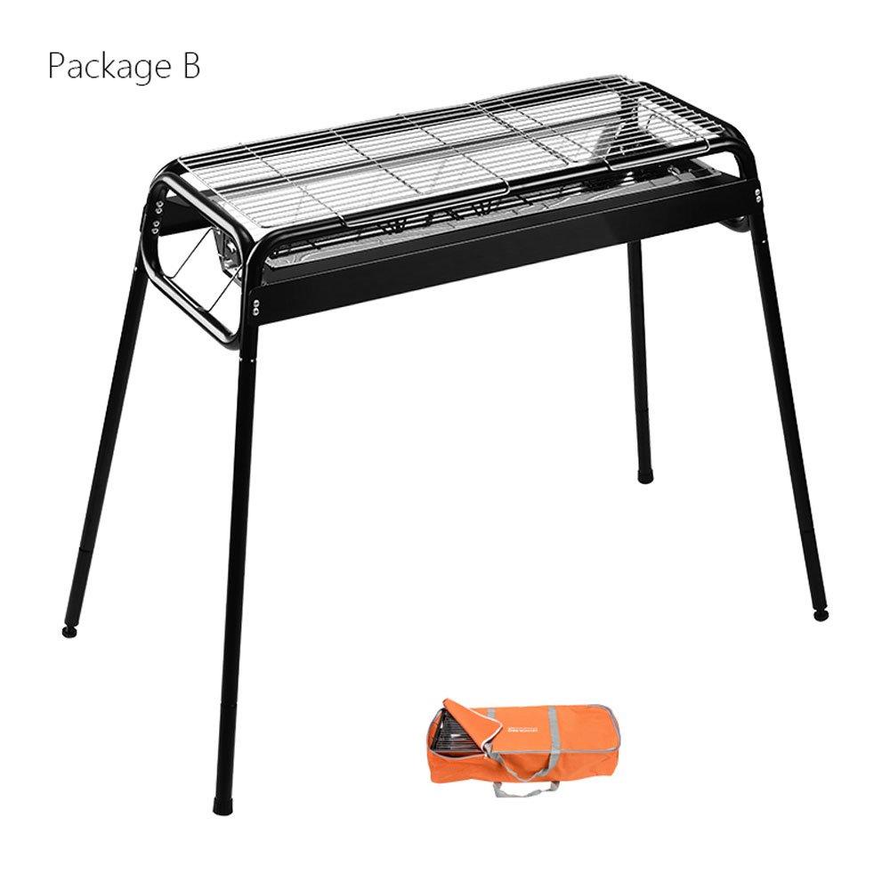 Sistema completo de la herramienta del campo de la parrilla de carbón de leña del hogar del Bbq al aire libre (Size : Package B): Amazon.es: Hogar