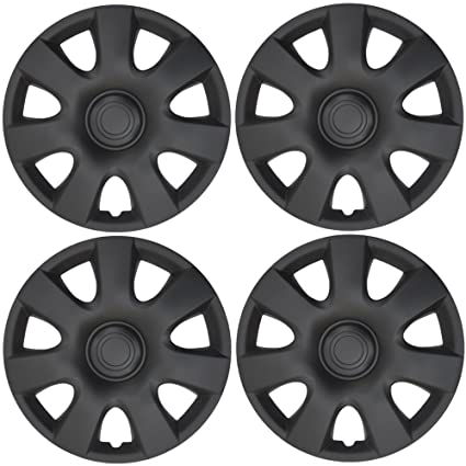 "BDK Matte Black Hubcaps Wheel Covers for Toyota Camry 15"" OEM Replica - Cover for"
