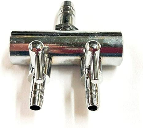 8 Outlet Air Pump Adjustable Metal Divider Air Splitter W// Shut off Valves