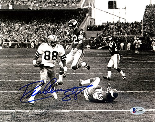 - DREW PEARSON AUTOGRAPHED DALLAS COWBOYS 8X10 PHOTO BECKETT BAS STOCK #113775