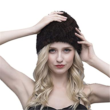 e2159ee2424 ForgetP Beanies Hat Women s Knitted Winter Warm New Cap Striped Pineapple  Russian Lining Headwear Lined Black