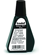 Trodat 156 7011 Stamp Pad Ink- Black. 28ml. Bottle