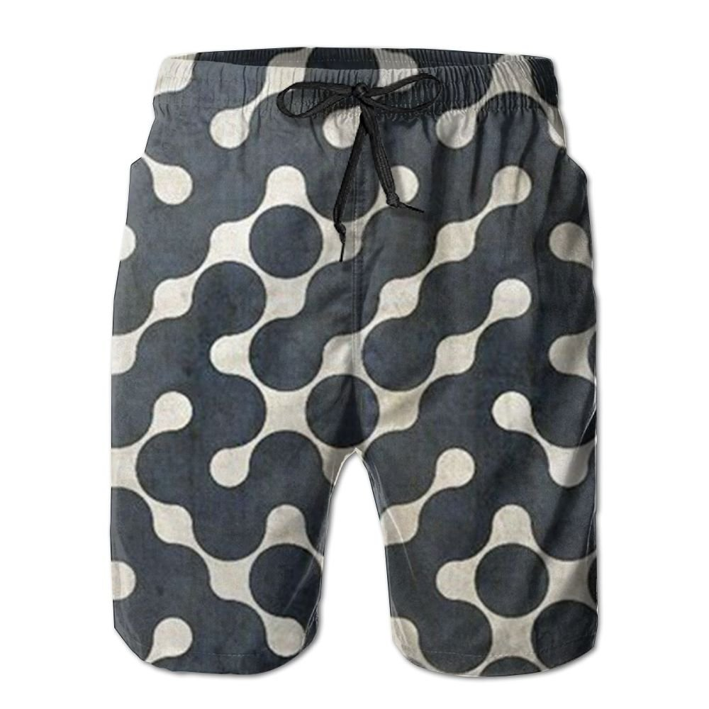 Black Art Mens Beach Board Shorts Quick Dry Summer Casual Swimming Soft Fabric with Pocket