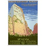 "CafePress - 1930s Vintage Zion National Park Rectangle Magnet - Rectangle Magnet, 2""x3"" Refrigerator Magnet"