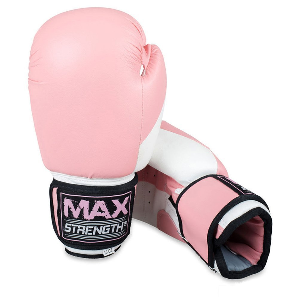 Max Strength Pink V Shap Focus Pads And Gloves Boxing Punch Bag Mitts Muay Thai Ufc Mma Ladies Kickboxing Womens Sparring Eqipments 16oz