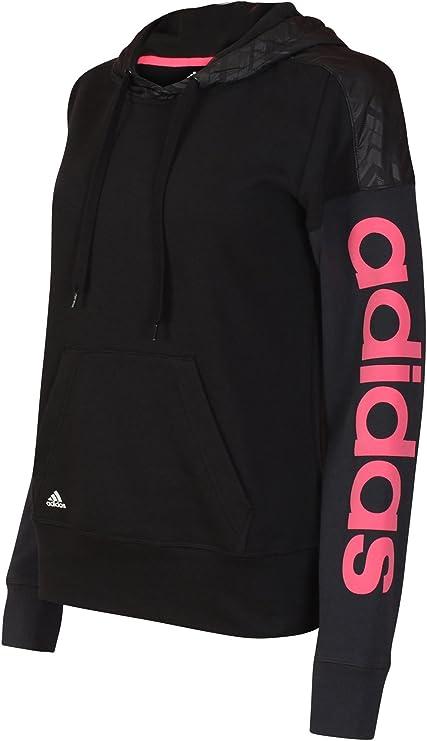 adidas Performance Reload sudadera con capucha para mujer, algodón Climalite, negra: Amazon.es: Deportes y aire libre