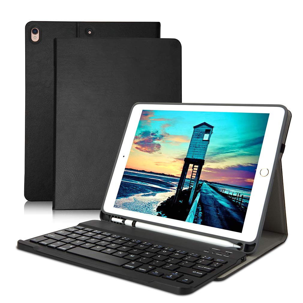 【限定セール!】 iPad 10.5 (ブラック) キーボードケース 2017用 ペンシルホルダー/自動ウェイクスリープ付き 超薄型 iPad フォリオ 取り外し可能なiPad B07PVVHLD7 ワイヤレスキーボード Bluetooth 2019 iPad Air 3rd Gen/iPad Pro 10.5 インチ 2017用 (ブラック) B07PVVHLD7, リサイクルきもの ヤマ:f385be1e --- a0267596.xsph.ru