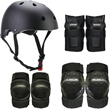 Helmet Protective Guard Gear Pads Skate Bicycle For Adult Teen Elbow Knee Wrist