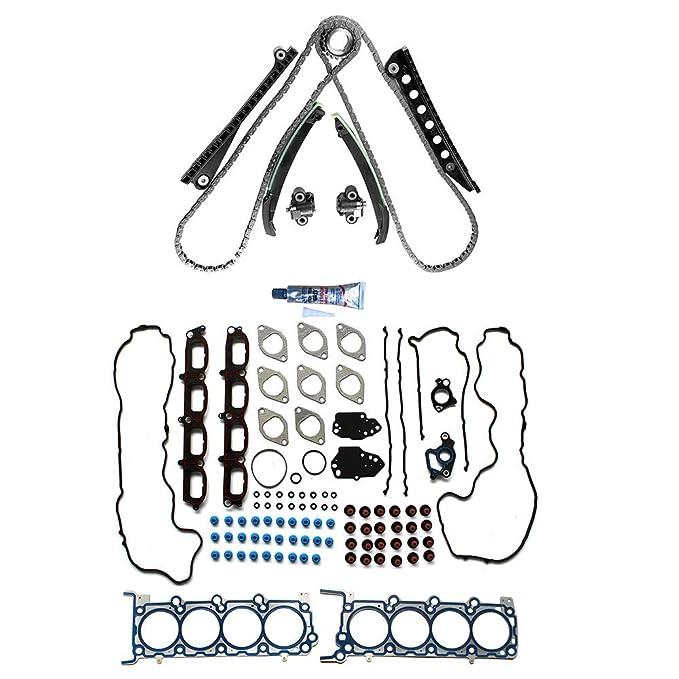 Amazon Com Cciyu Engine Timing Chain Kittk6068 Head Gasket Set