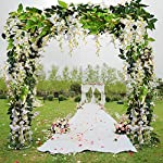 Musdoney-26Ft-4-Pcs-Artificial-Flowers-Silk-Wisteria-Ivy-Vine-Green-Leaf-Hanging-Vine-Garland-for-Wedding-Party-Home-Garden-Wall-Decor-White