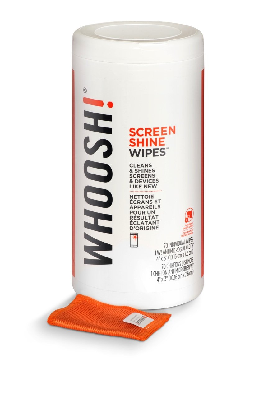 Screen Cleaner WIPES - Safe for all screens - Smartphones, iPads, Eyeglasses, Kindle, Touchscreen & TVs (70 Count- Canister): Office Products