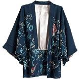 9b3651dff953 Sanyouletoo Frauen Strickjacke Phoenix Print Kimono Fledermaus Ärmel  Europäische und Amerikanische Mantel Frauen Oberteile Damen Sommer