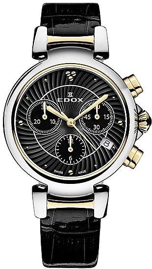 EDOX de mujer reloj de pulsera lapassion Cronógrafo Fecha Analógico de Cuarzo 10220 357rc NIR