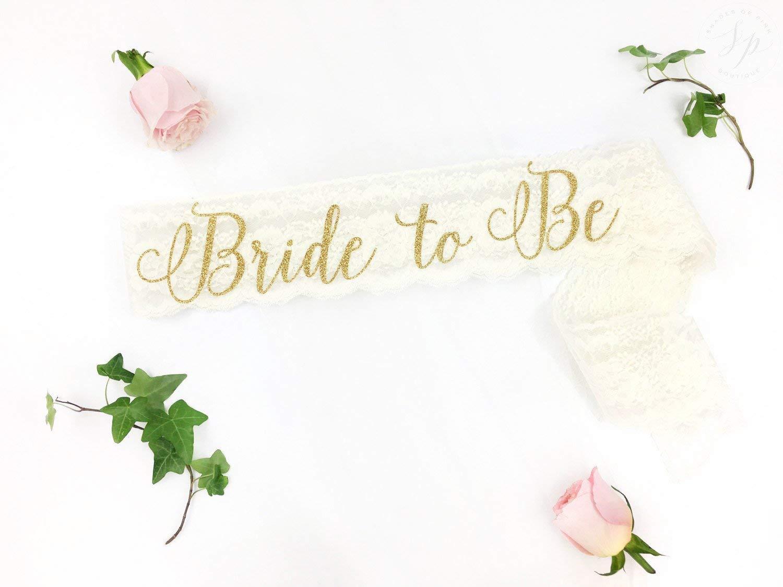 Lace Bride to Be Sash, The Bride sash, Bachelorette Sash, Bride to Be Sash, Bridal Sash, glitter sash, bride sash, Lace Bachelorette sash
