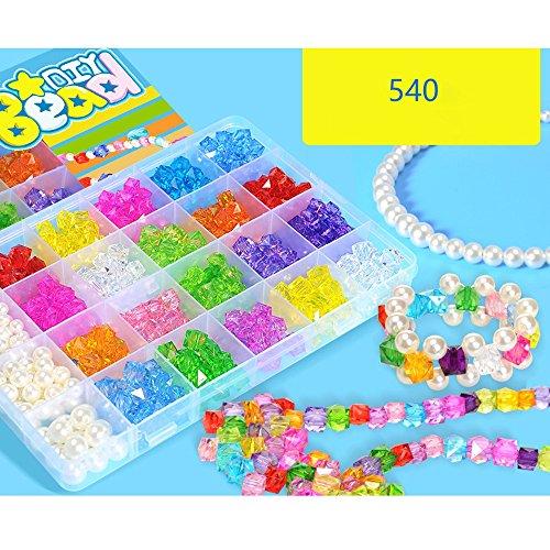 アクリルビーズ - 子供ビーズアクセサリーおもちゃ、男の子、女の子、子供、誕生日プレゼント ( Color : C )