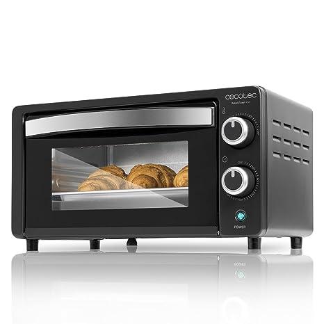 Cecotec Horno Conveccion Sobremesa Bake&Toast 450. Capacidad de 10 litros, 1000 W, Temperatura hasta 230ºC y Tiempo hasta 60 Minutos, Perfecto para ...