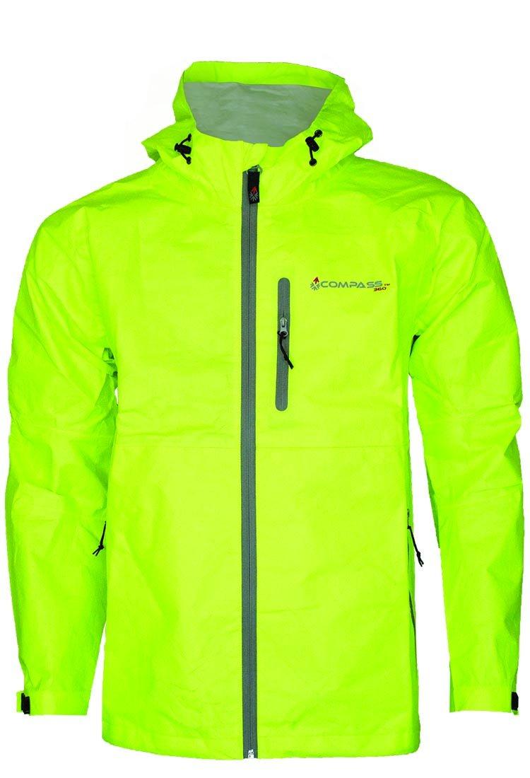 コンパス360 Protek不織布t50防水雨ジャケット B01H49RZ98 Medium|HV Lime HV Lime Medium
