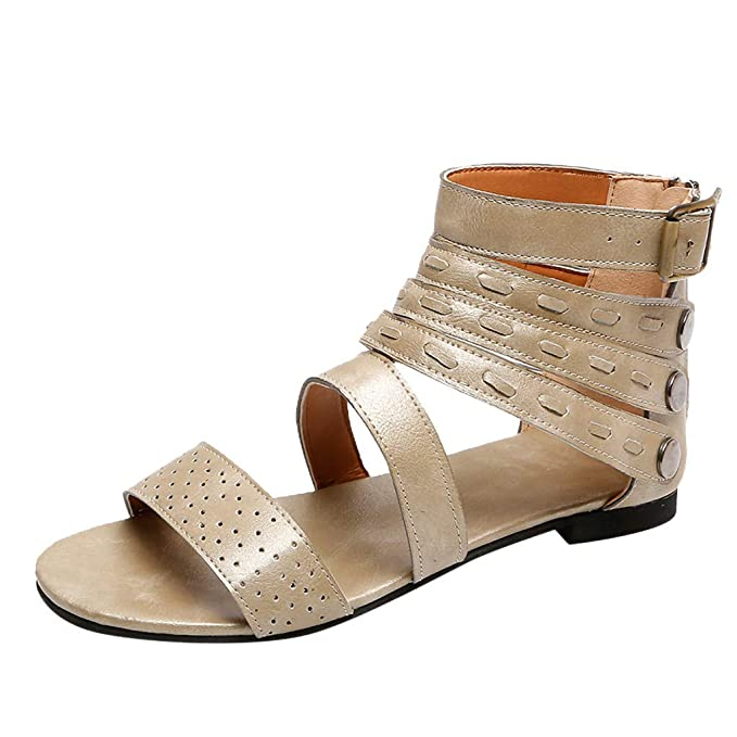 17c9586a7 Mosstars Sandalias Mujer Verano 2019 Planas Zapatillas Moda Retro Mujer  Zapatillas Punta Abierta Zapatillas Mujer Sandalias Romanas Zapatos de  Playa Mujer ...