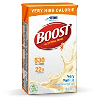 BOOST Very High Calorie Complete Nutritional Drink, Very Vanilla, 8 Ounce Box (Pack...