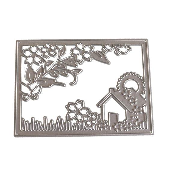 JiaMeng Troqueles Scrapbooking, Troqueles de Corte de Metal de Corazš®n de Flor Rectangular Acero al Carbono Plantillas para de Recortes de Scrapbooking ...